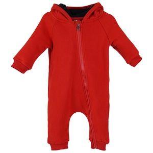 Infant Baby Fleece Zipper Hoodie Bodysuits Pajamas